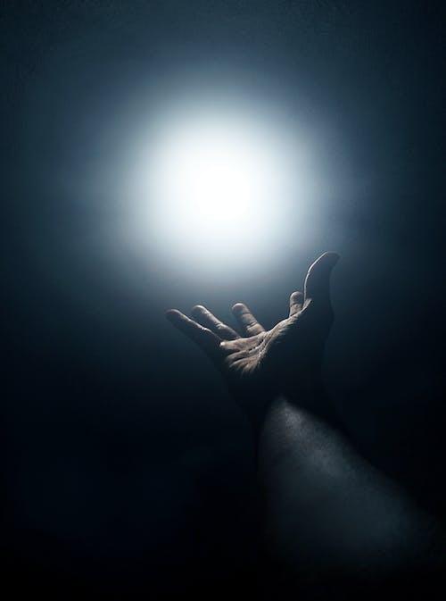 Gratis stockfoto met donker, donkerblauw, hand, koel licht