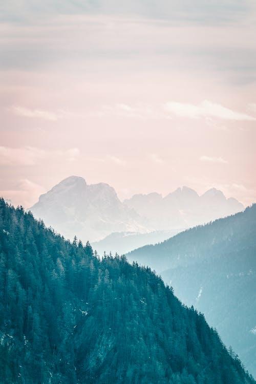 ao ar livre, árvores, cadeia de montanhas