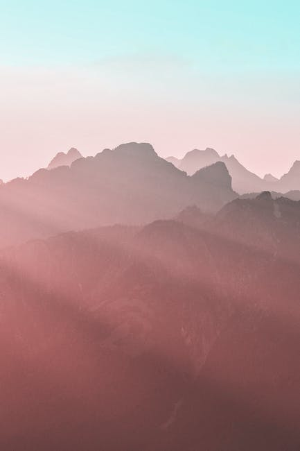 Photo of mountains during dawn
