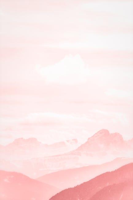 High angle photography of mountain