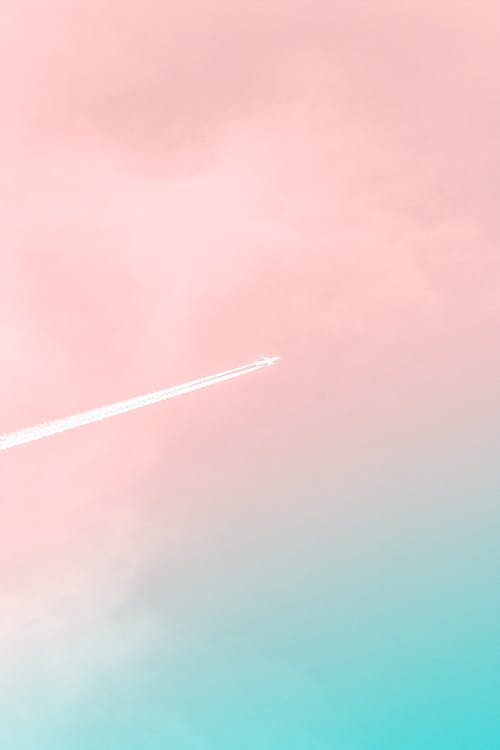 Photo of Airplane With Smoke Trail