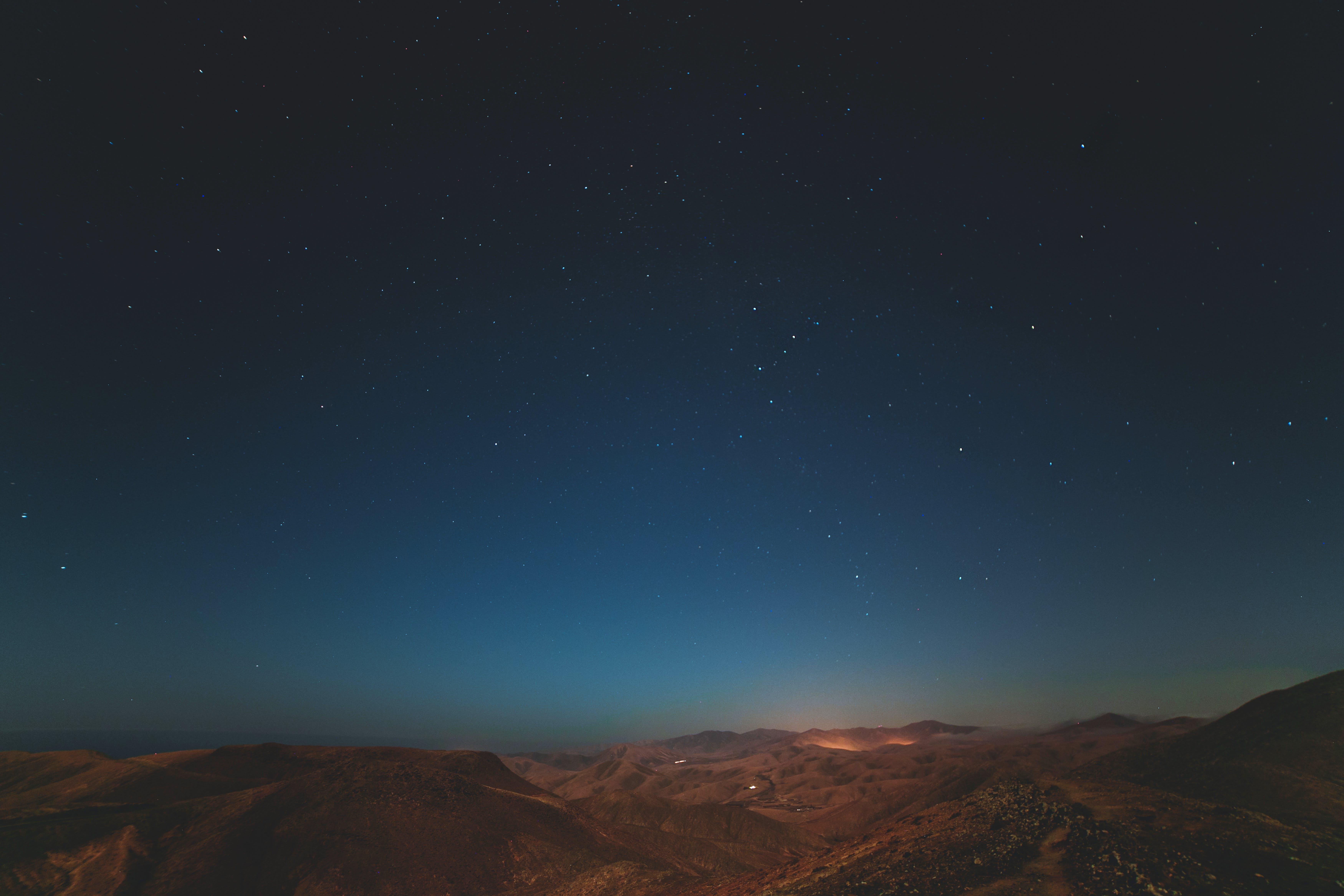 Free stock photo of blue, blue hour, gradient, landscape