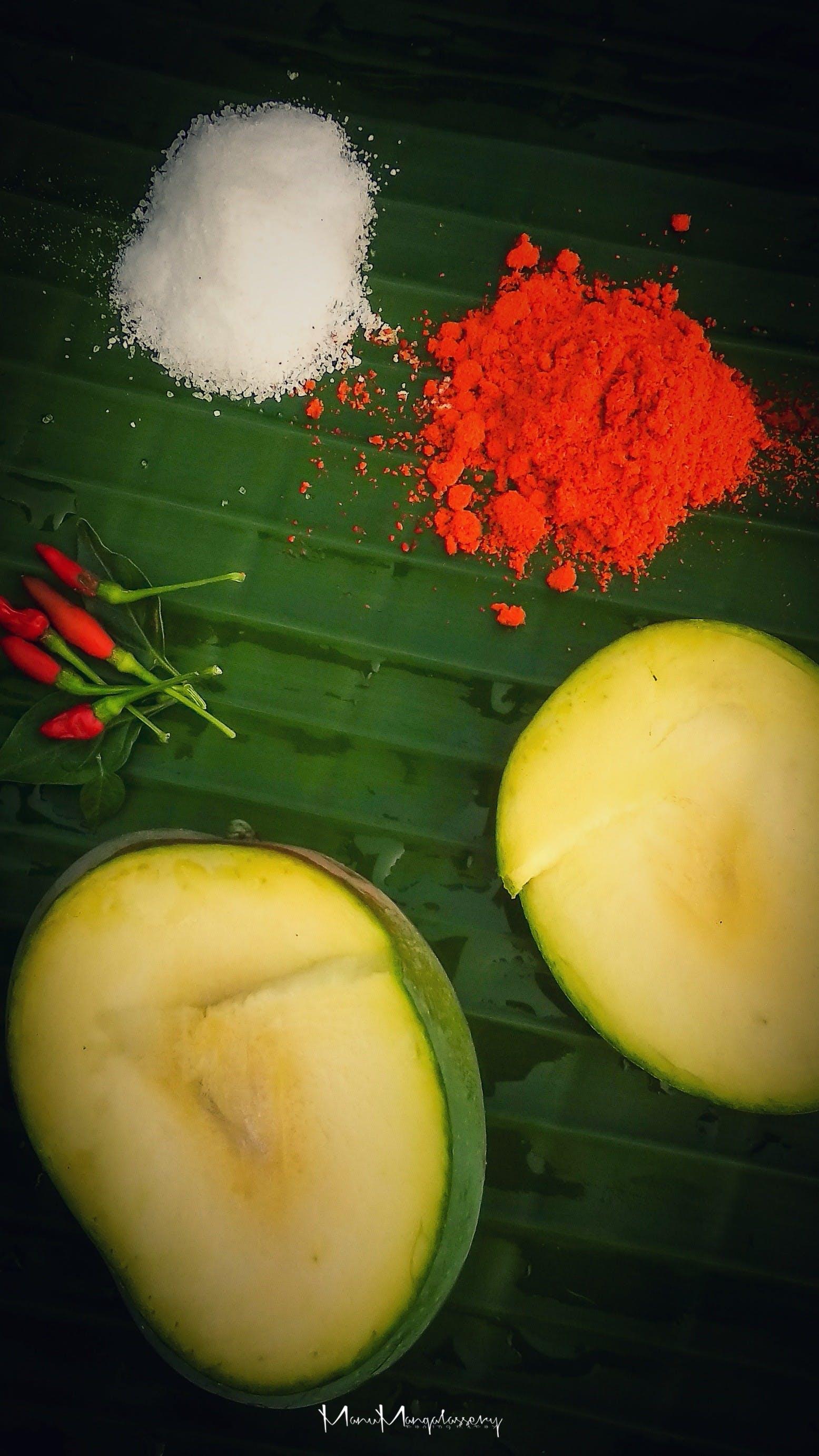 Free stock photo of mangoes, pickles, salt