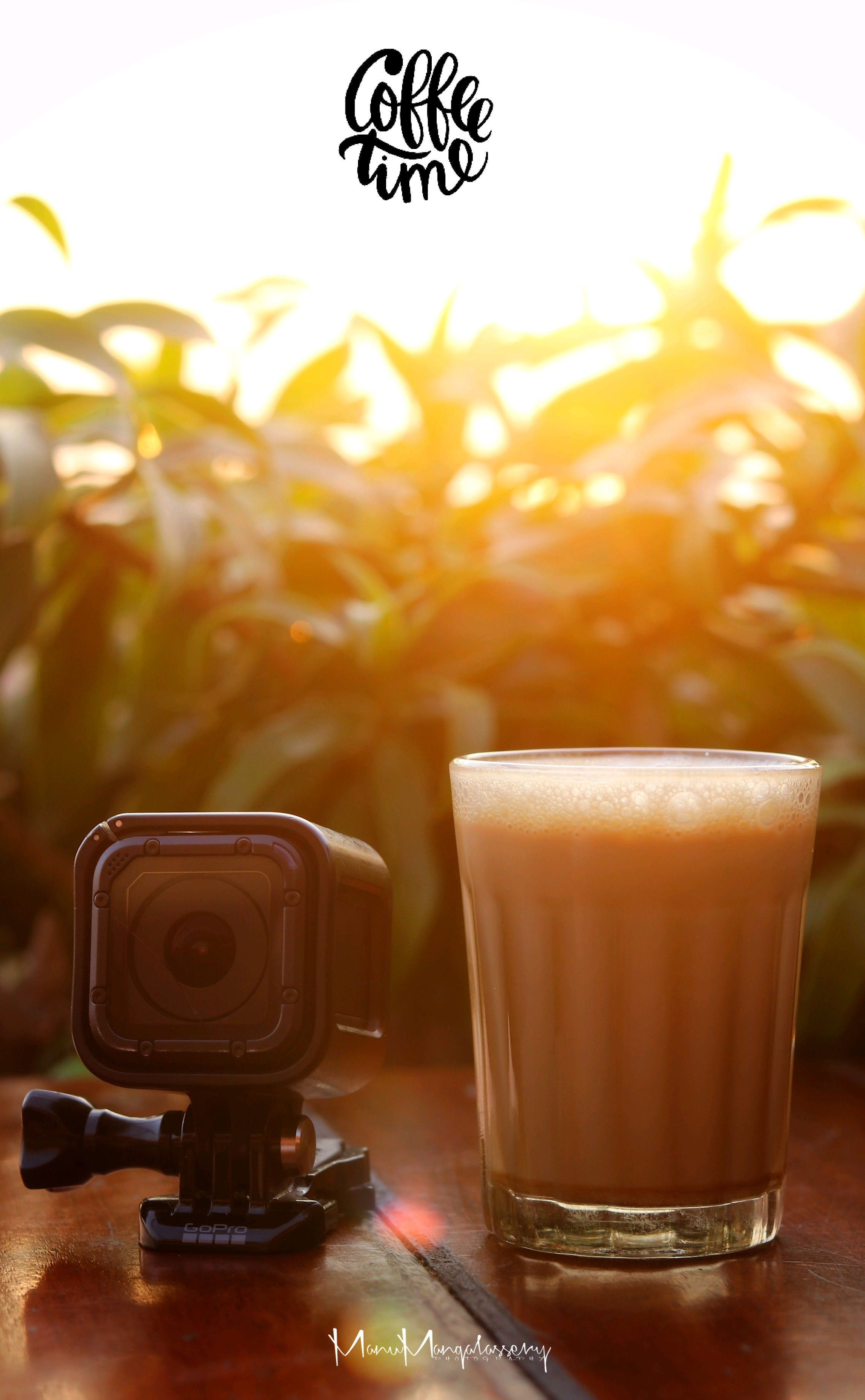 Free stock photo of coffee, coffee cup, gopro, sunset