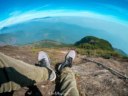 トレッキング, ナイキ, 青い山の無料の写真素材