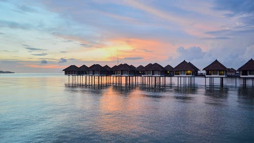 Immagine gratuita di ora blu, tramonto