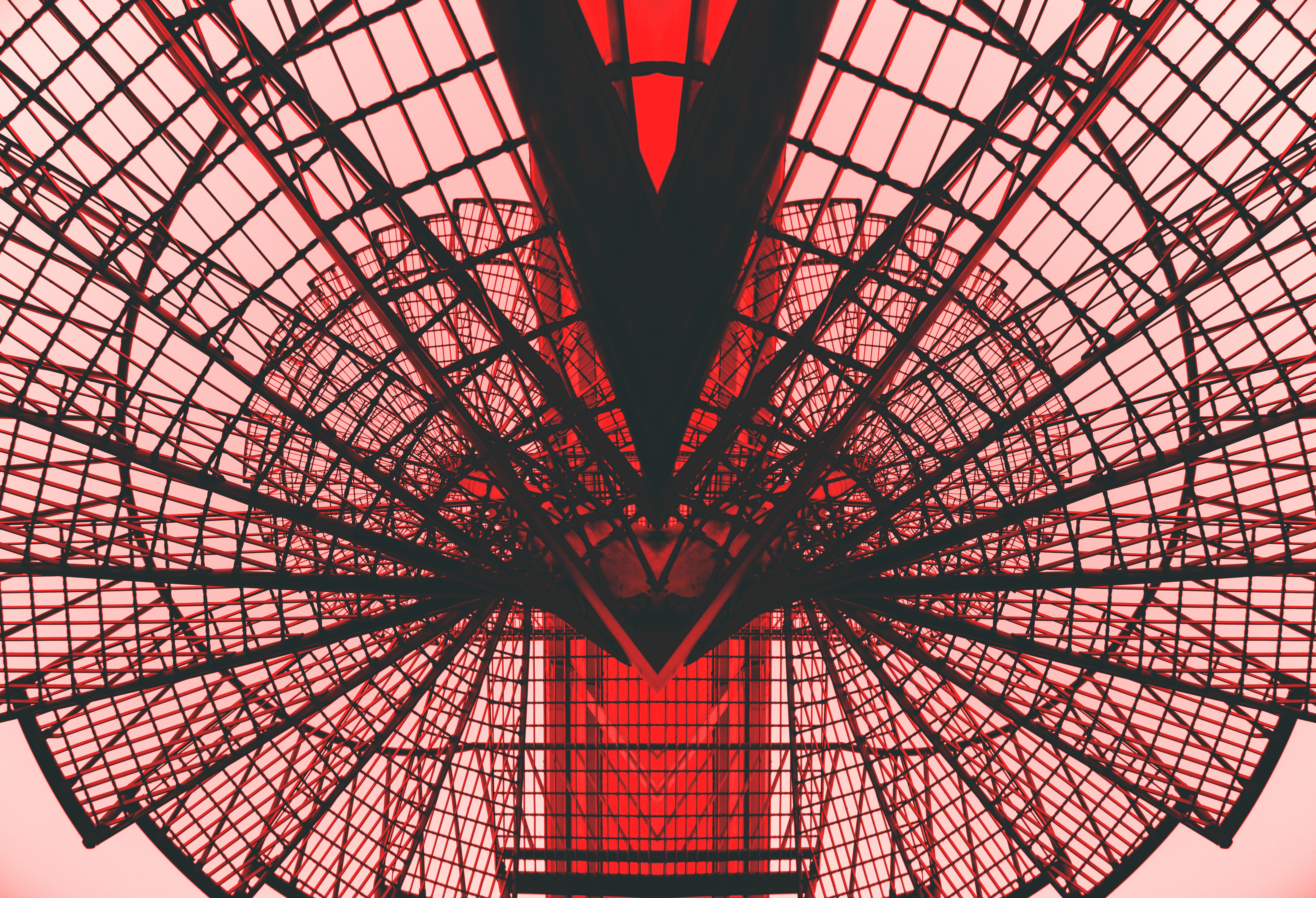 Low-angle Photography of Red Metal Tower