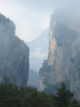 Free stock photo of landscape, nature, mountain, fog