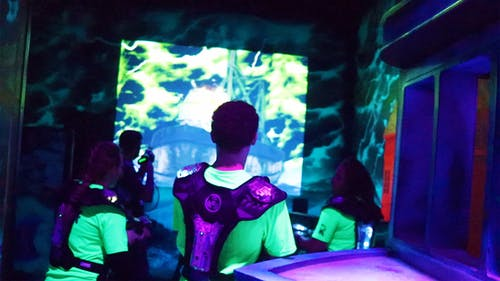 Free stock photo of animated projector targets, family fun center, laser tag