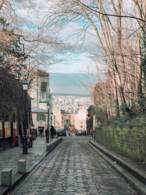 Photo of people on street near trees