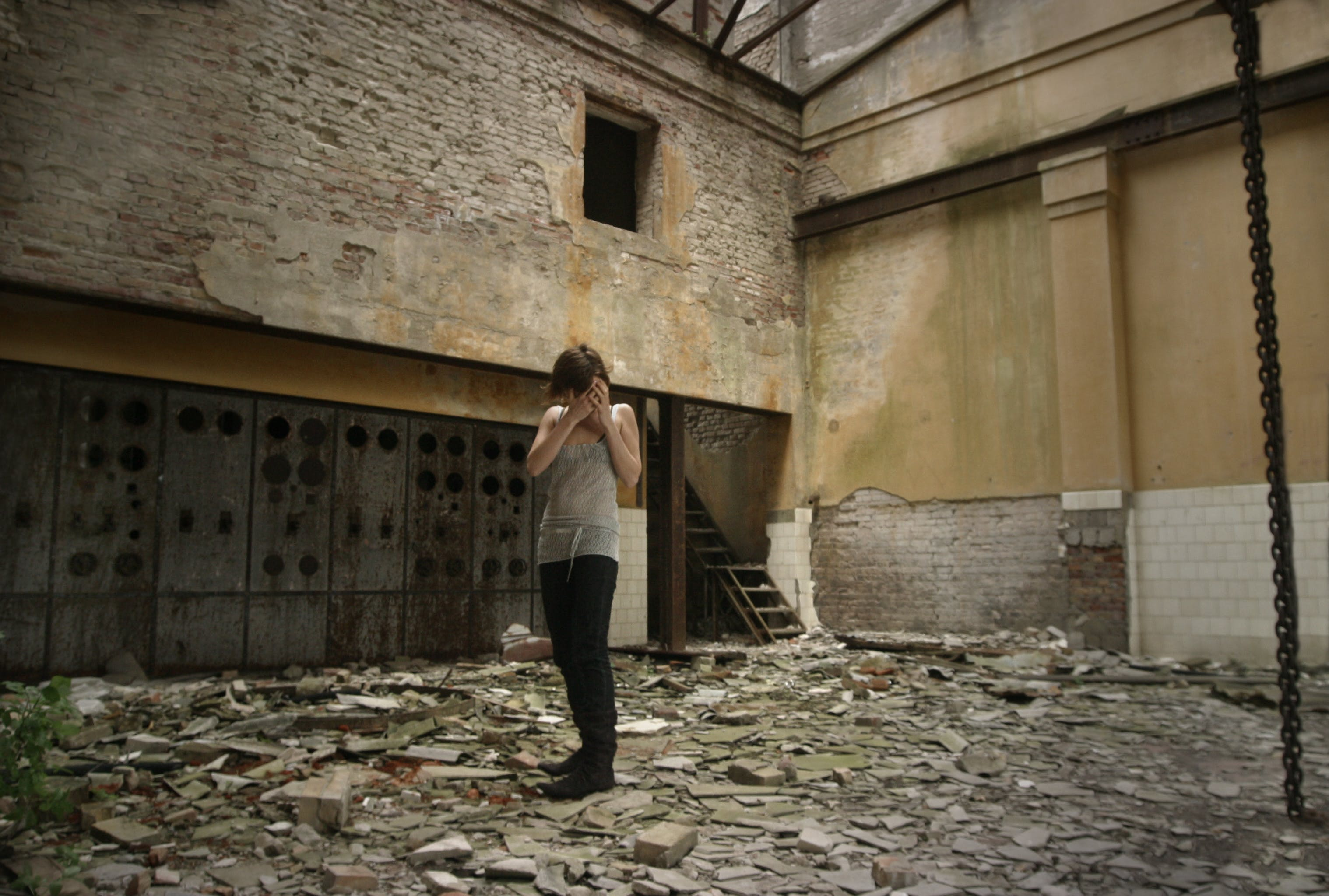 Woman Inside Building