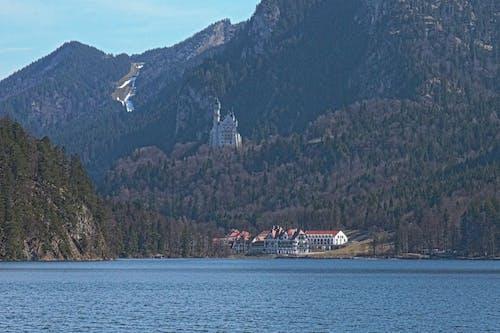 新天鵝堡, 高山湖泊 的 免費圖庫相片