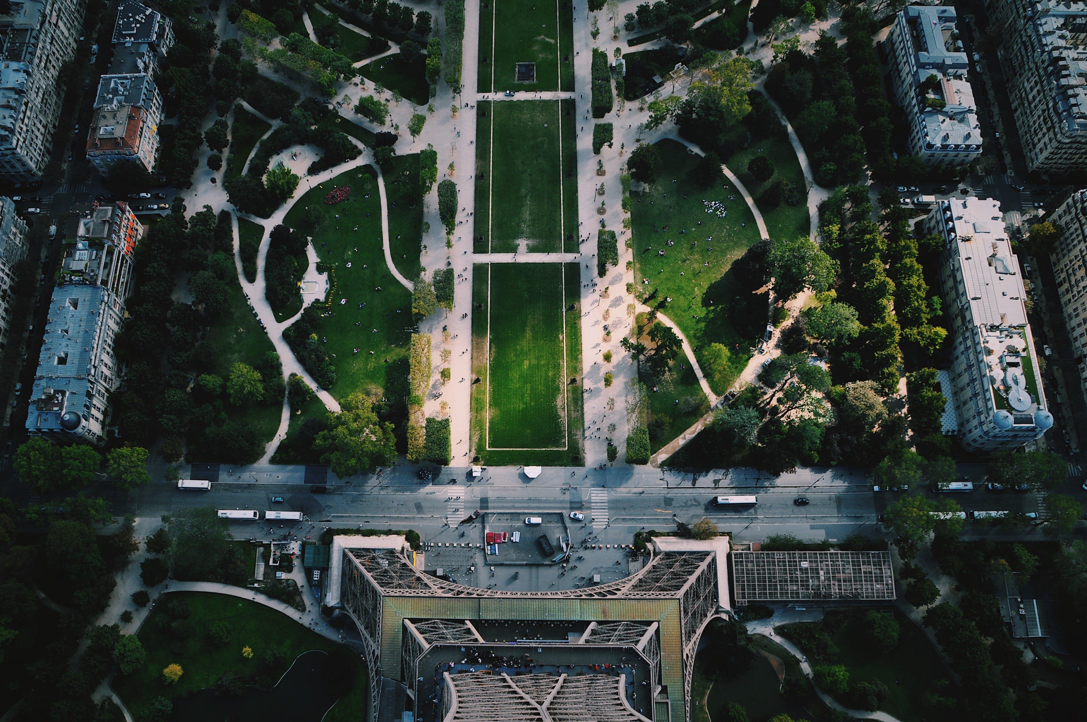 Fotos de stock gratuitas de aéreo, al aire libre, alto, arquitectura