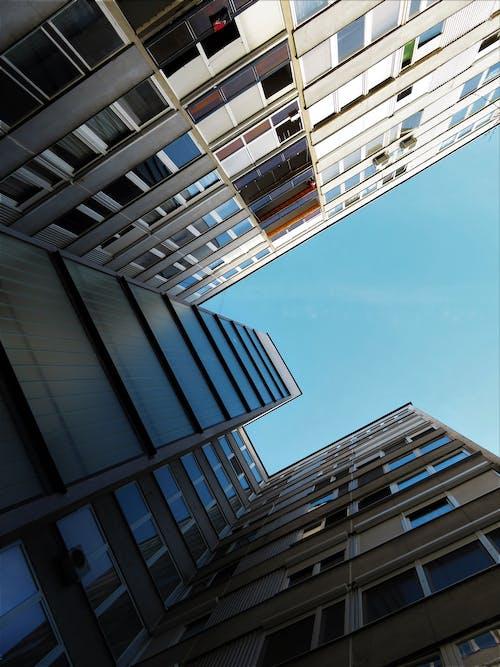 低角度拍攝, 外觀, 建築物正面, 建築設計 的 免费素材照片