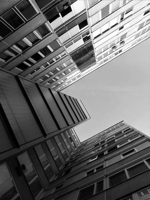bakış açısı, bina, çağdaş, cam eşyalar içeren Ücretsiz stok fotoğraf