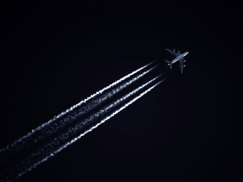 Photo of Airplane During Evening