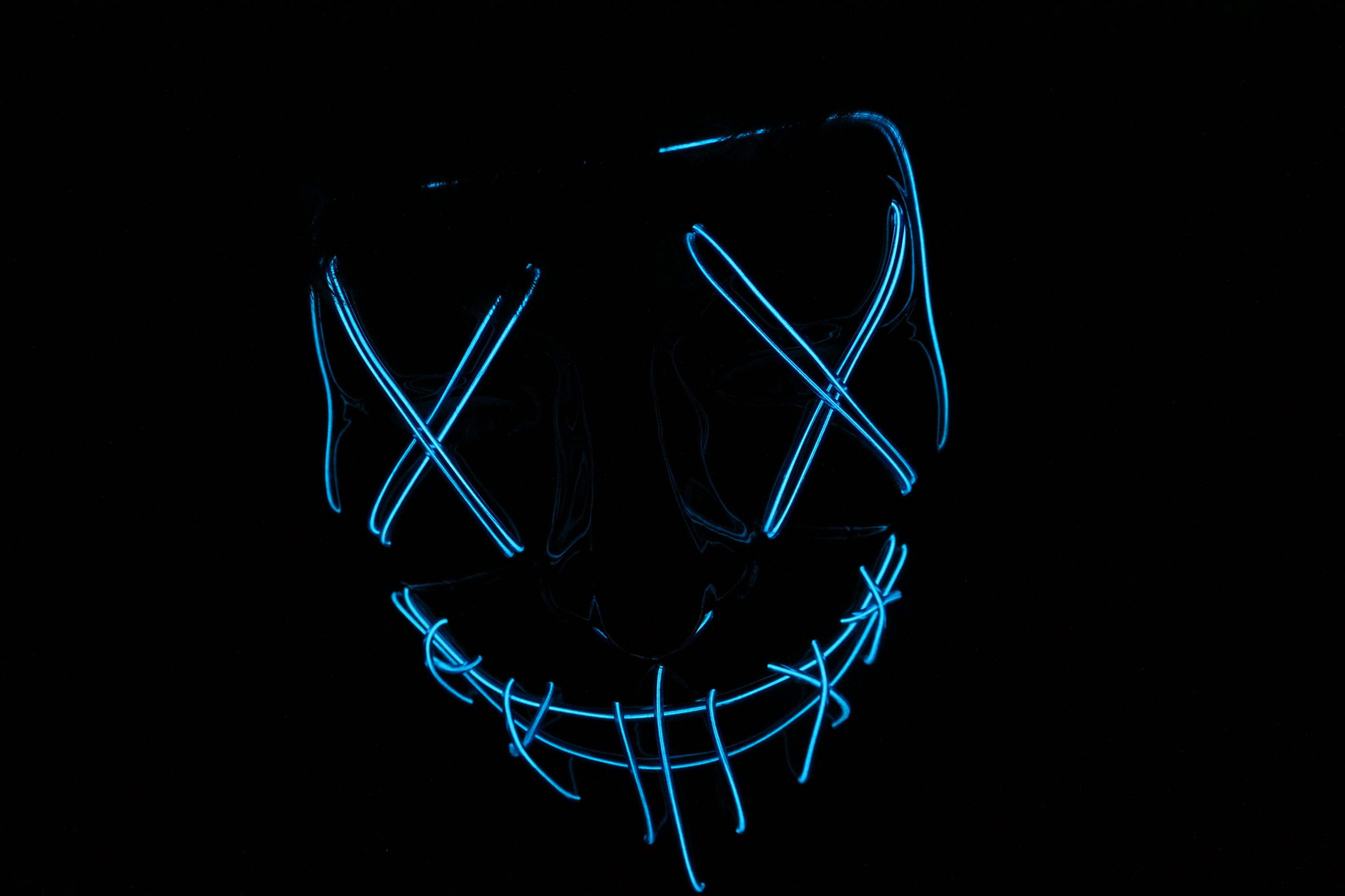 Blue-light Skull Signage