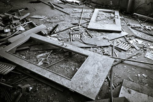Imagine de stoc gratuită din abandonat, alb-negru, arhitectură, calamitate