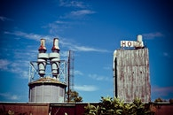 building, industry, broken