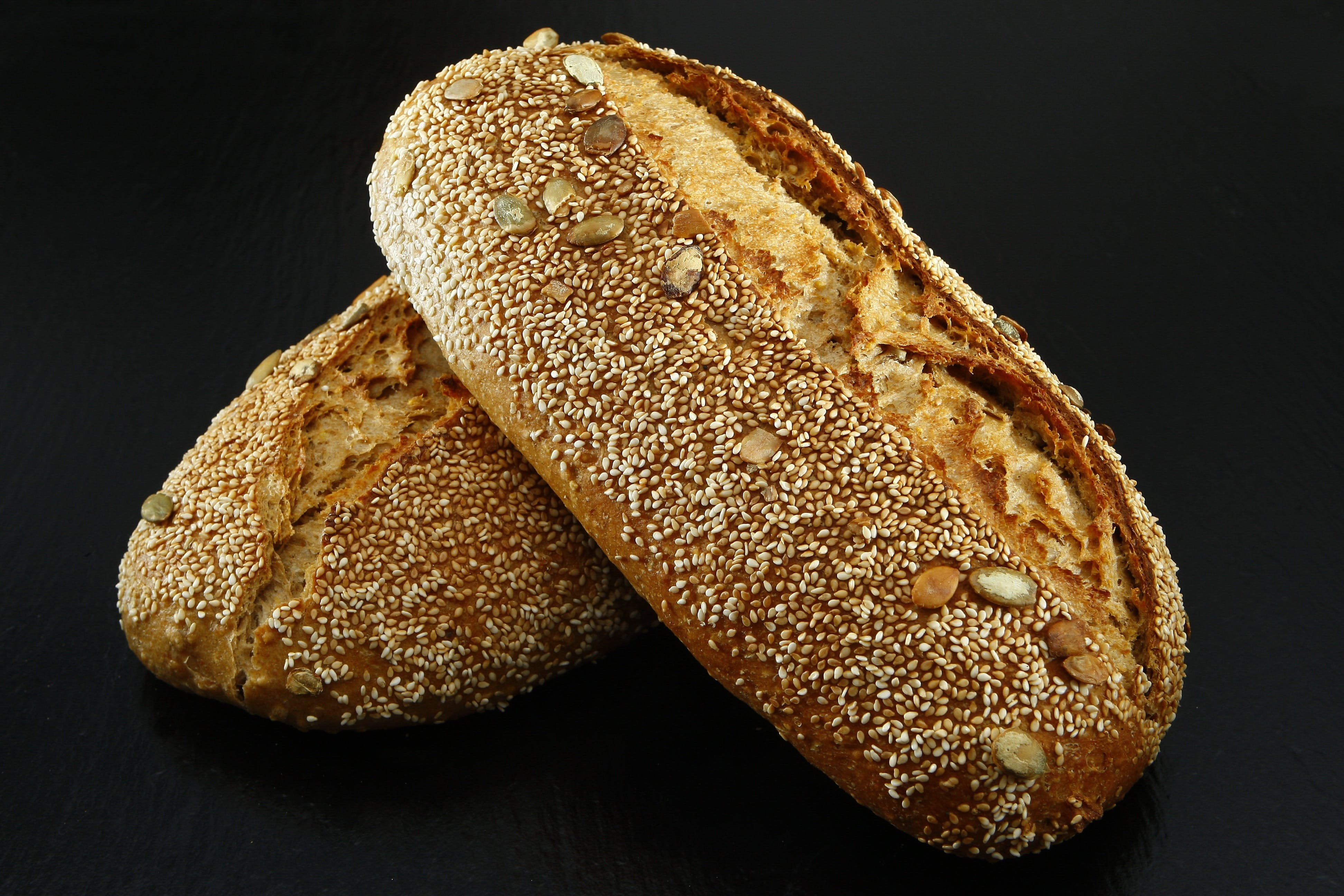 Focus Photography of Sprinkled Bread