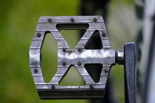 Gray Metal Bike Pedal