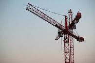 sky, construction, cranes