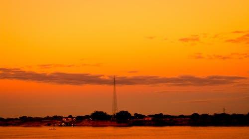 Darmowe zdjęcie z galerii z #natura, błękitna godzina, seledyn, wieczorne słońce