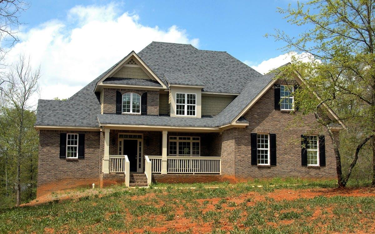 архитектура, газон, двор
