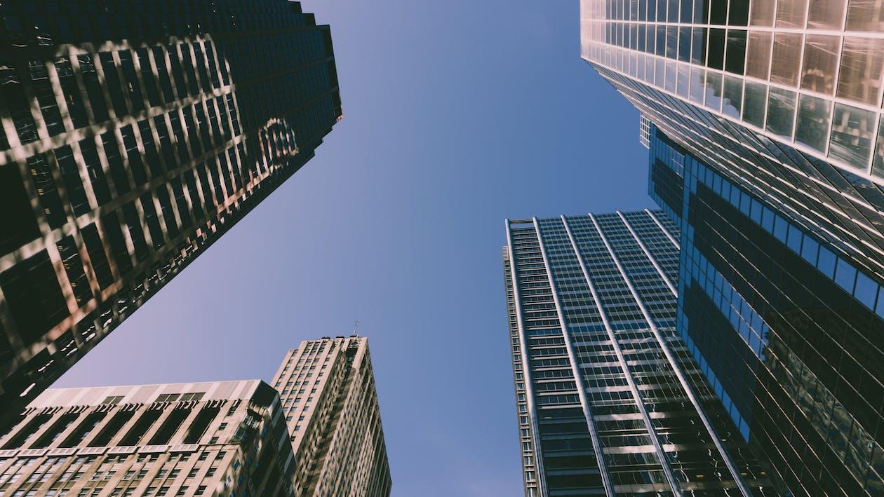 低角度拍攝, 城市, 市中心