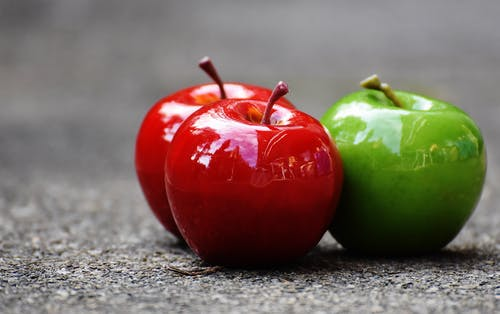 Three Apple Fruits