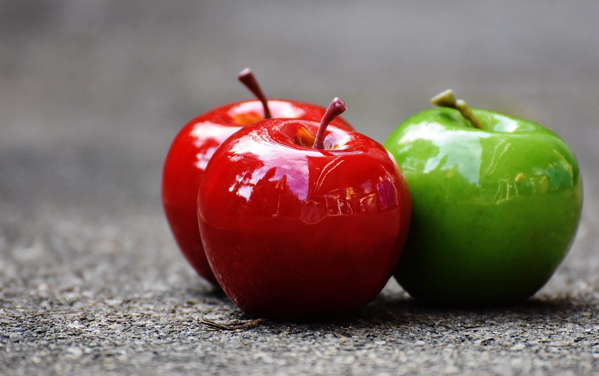 Three Apple Fruits