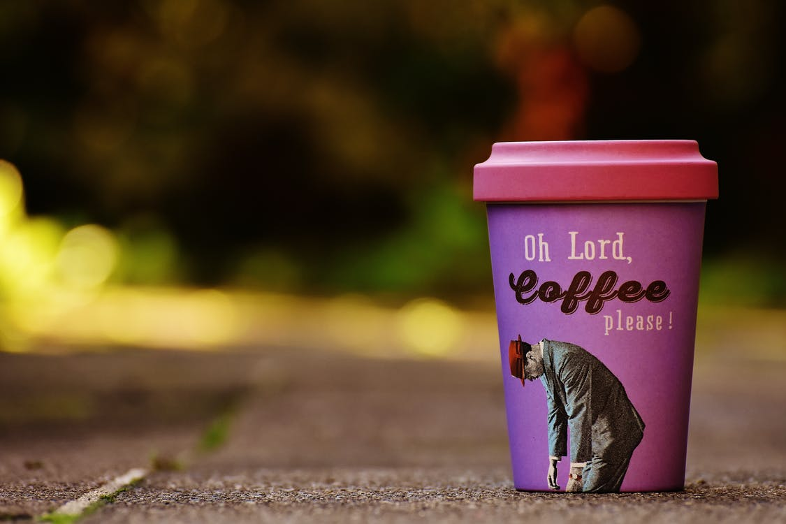 Pink Oh Lord, Coffee Please! Disposable Cup