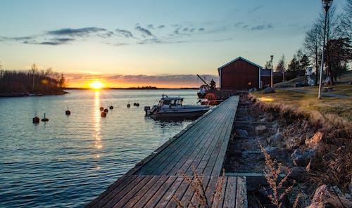 Ilmainen kuvapankkikuva tunnisteilla auringonlasku, auringonlaskun ranta, satama, suomalainen
