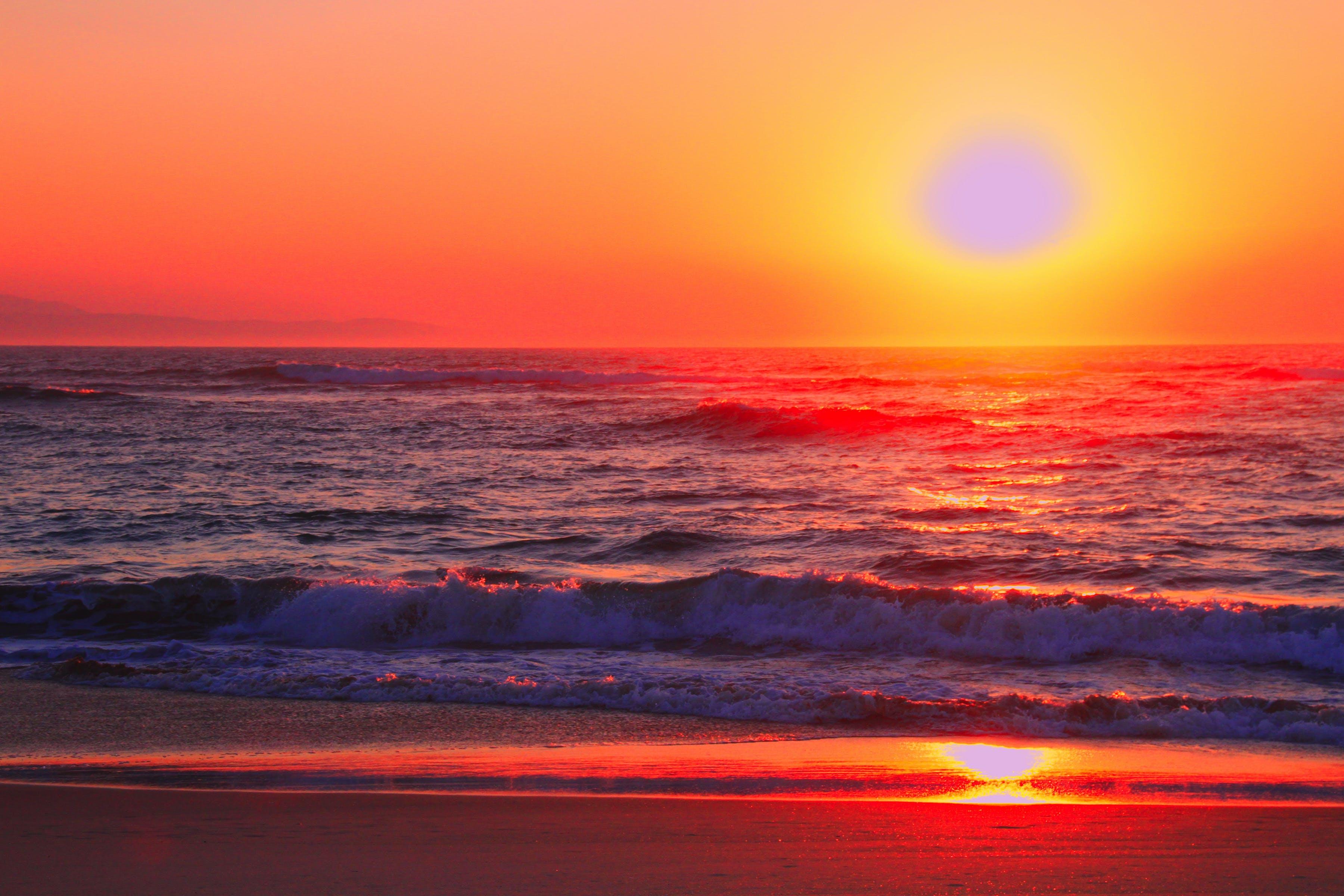 Free stock photo of beach, ocean, sunet