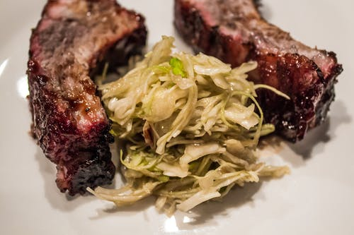 Free stock photo of barbarque, BBQ Ribs, coleslaw