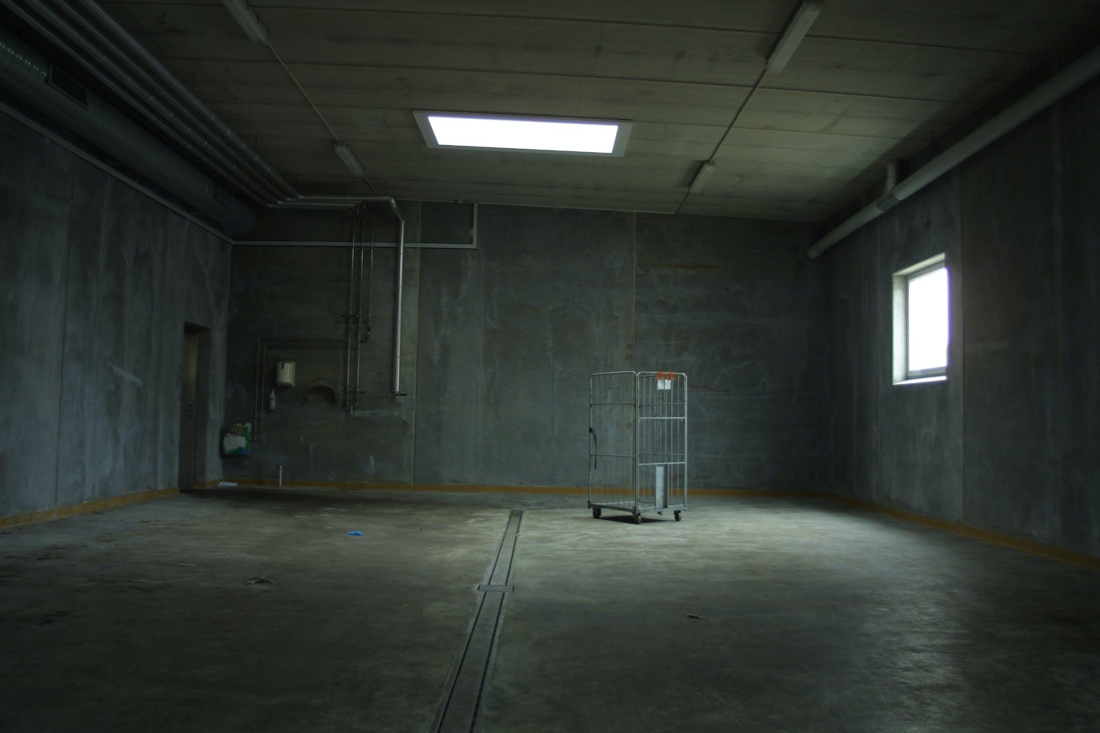 White Metal Cart Inside Room