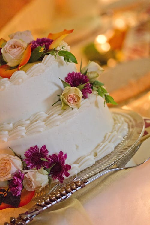 Floral 2 Layered Cake