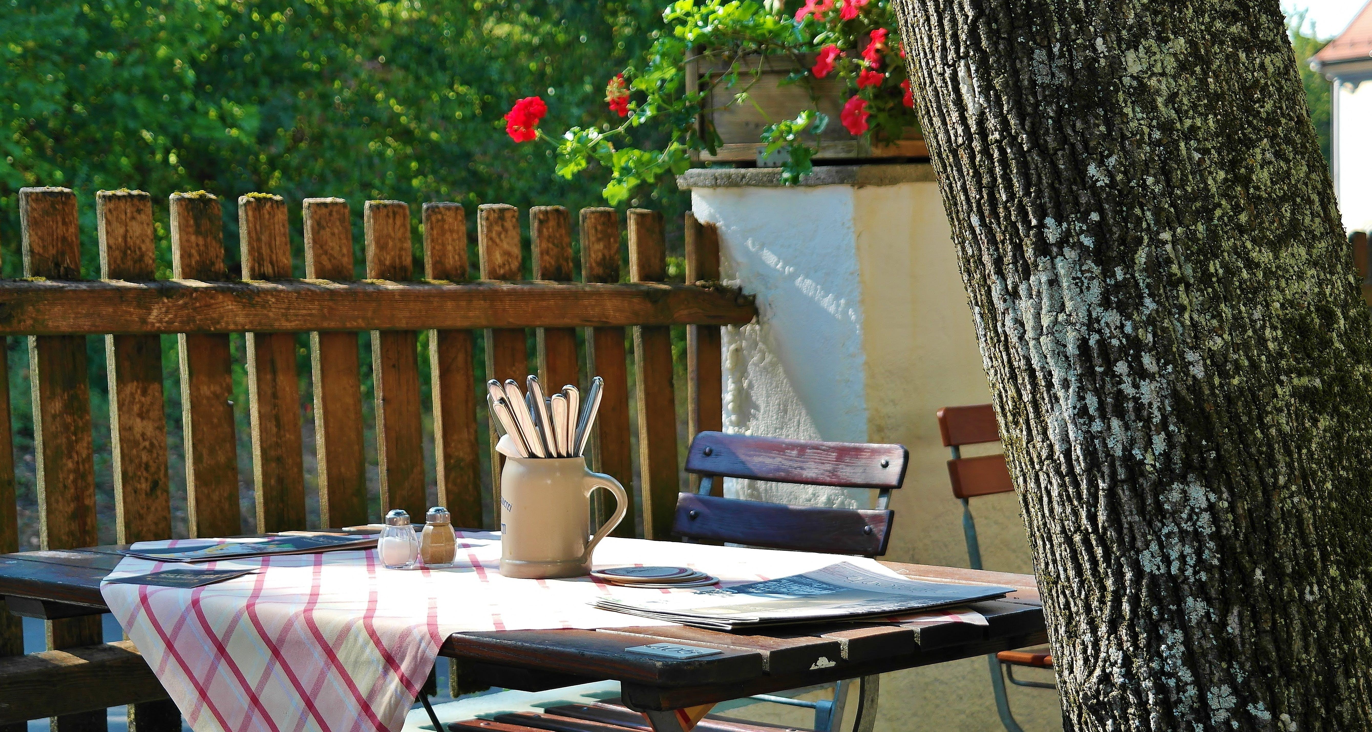 Free stock photo of Bavaria, beer, beer garden, chairs