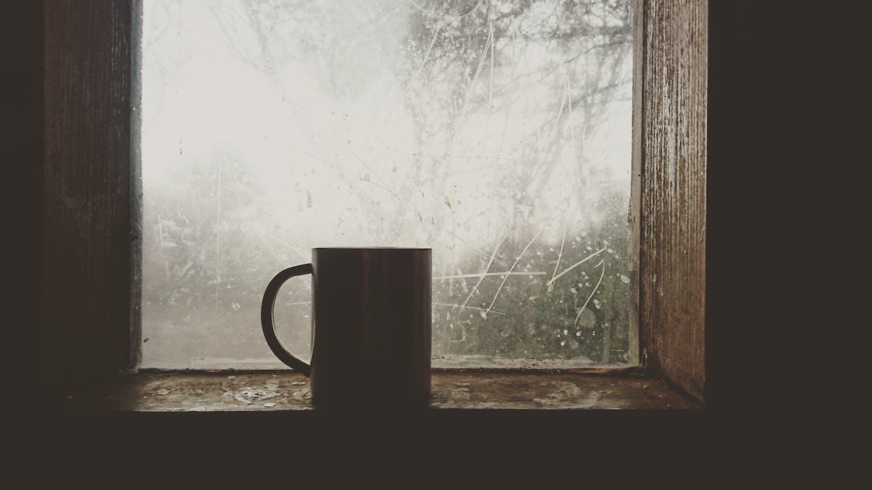 dryck, espresso, het