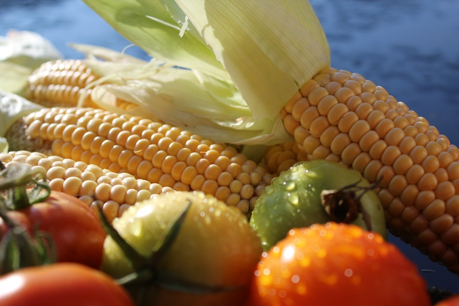 Corn and Fresh Tomato