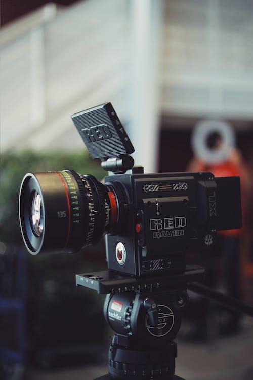 Black Camera on Stand