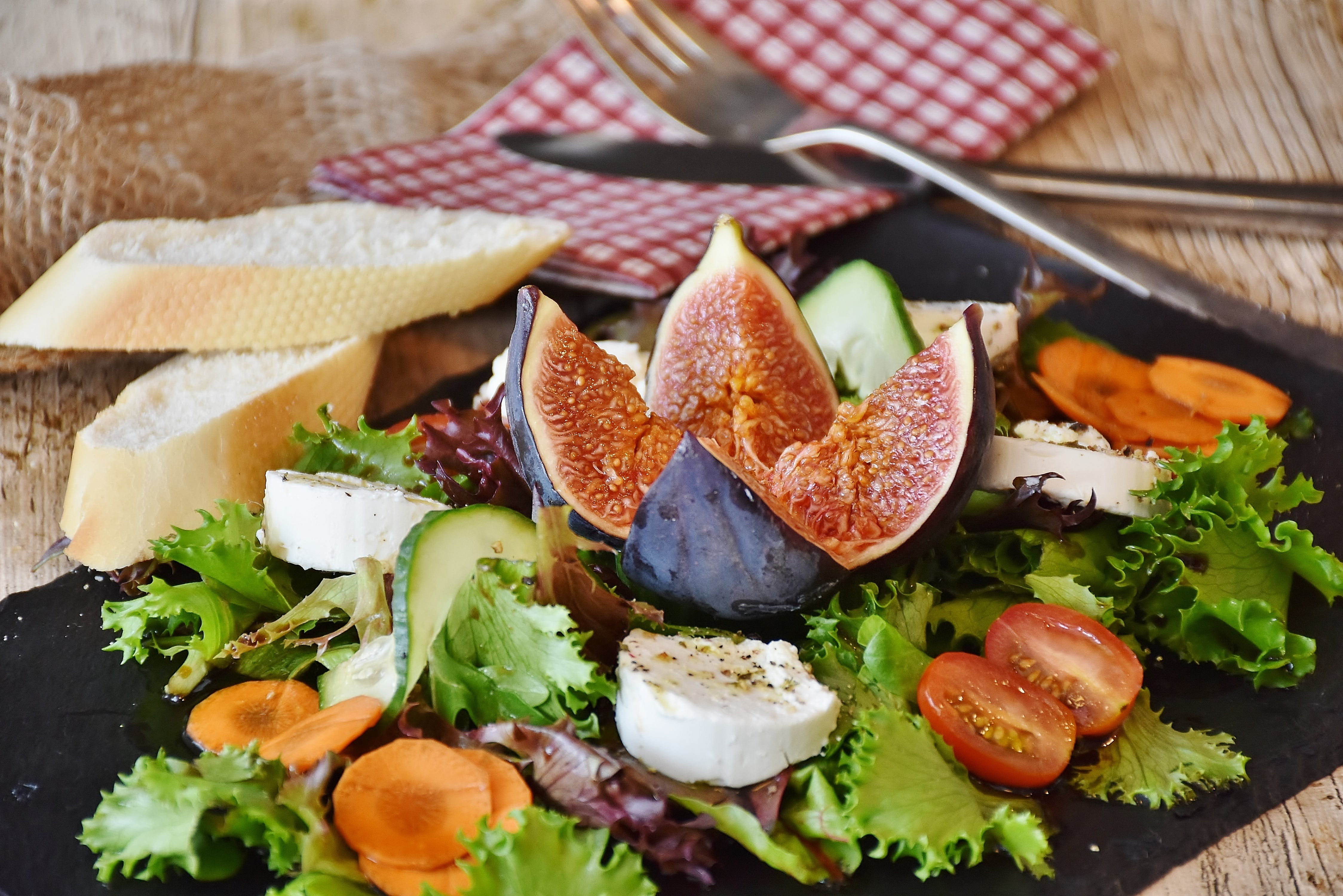 Plate of Fig Fruit Salad