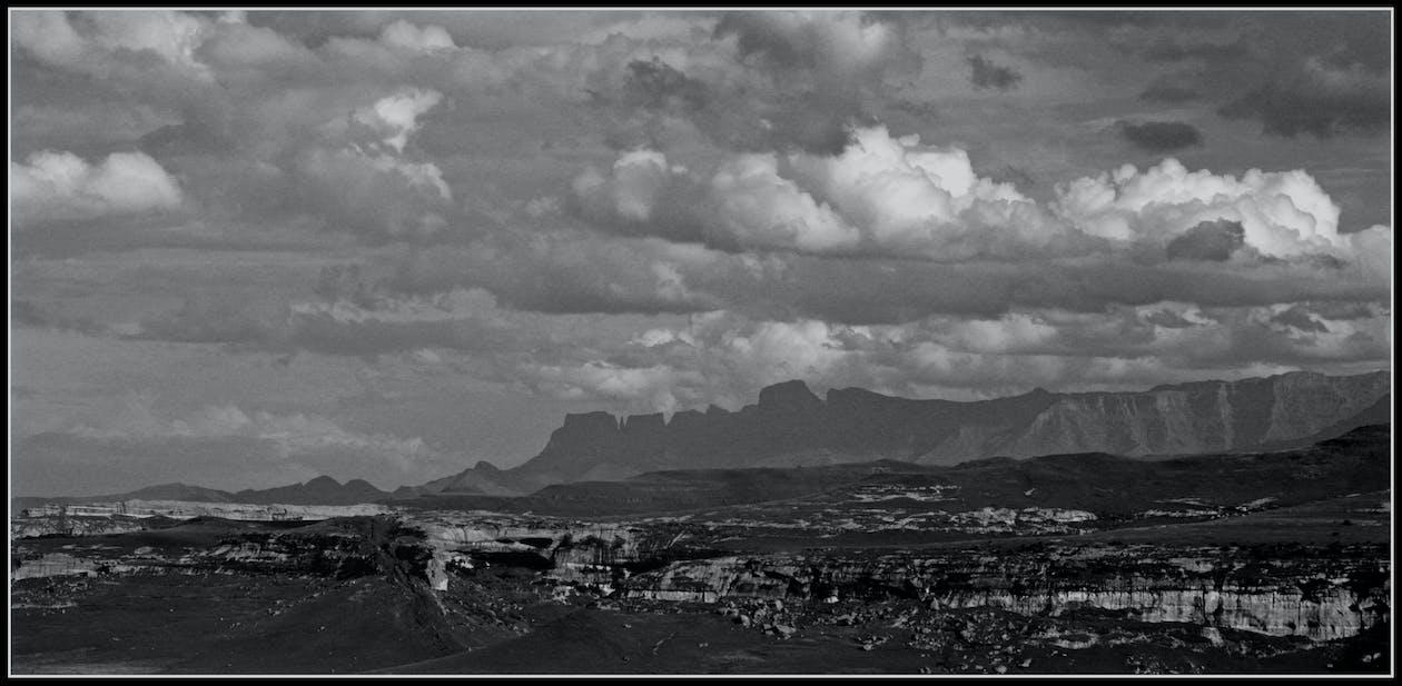 drakensberg, góry, widok