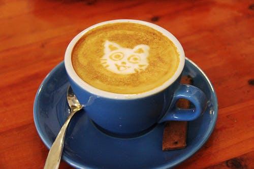 คลังภาพถ่ายฟรี ของ กาแฟ, กาแฟในถ้วย, ความคิดสร้างสรรค์, คาปูชิโน่