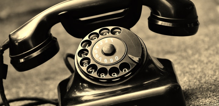 Black Vintage Telephone