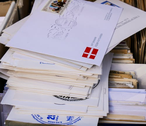 Foto stok gratis amplop, kartu pos, merapatkan, penulisan