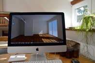 wood, apple, desk