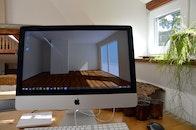 wood, apple, desk
