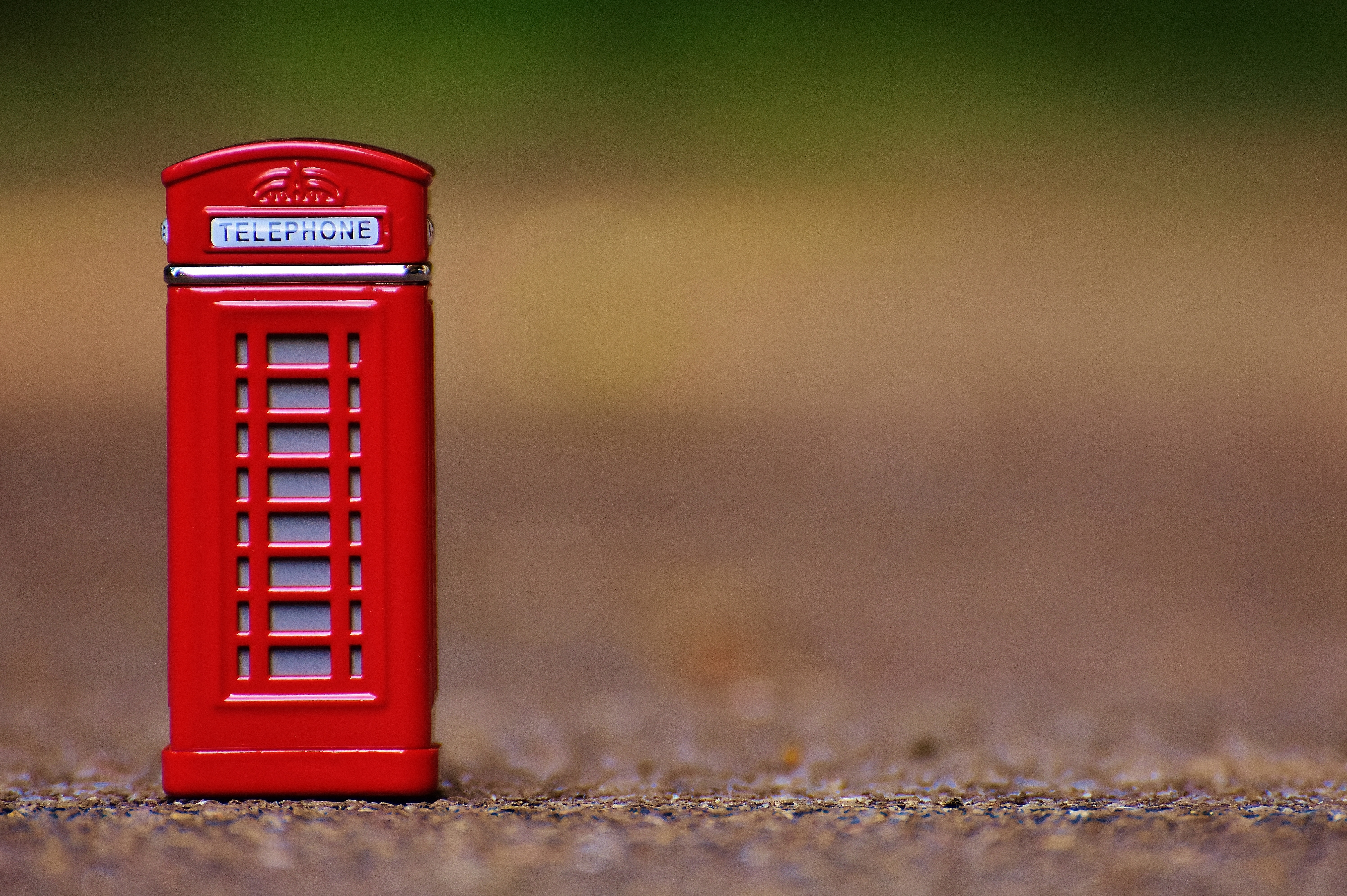 Red Telephone Booth Miniature Focus Photo