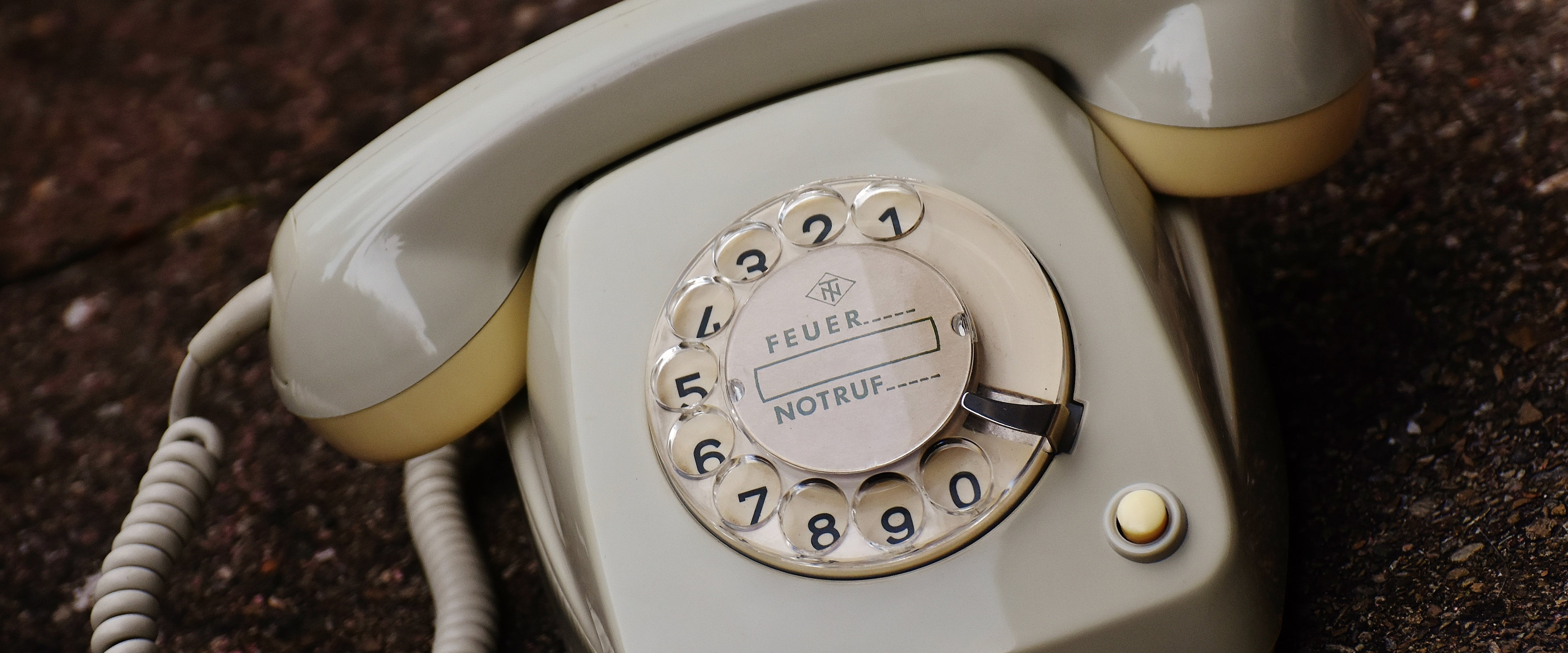 White Rotary Phone
